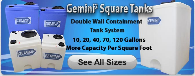 Gemini Square Plastic Tanks 40 Gallon Size